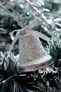 Christmas bell  on Christmas background