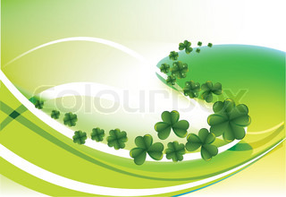 Clovers by a holiday St. Patrick's Day