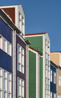 Image of 'houses, netherlands, blue sky'