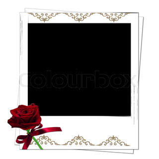 polaroid rahmen mit sonnenblumen mit platz fot text oder foto stock foto colourbox. Black Bedroom Furniture Sets. Home Design Ideas