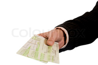 Air Tickets in Hand .