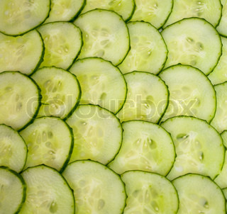 Cucumbers cut by circles