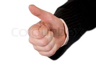 Thumbs Up Sign. Man Hand.