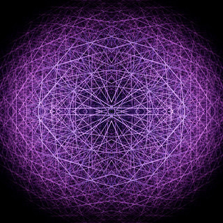 Purple crossing lines structure. Computer generated this image