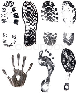 prints isolated on a white