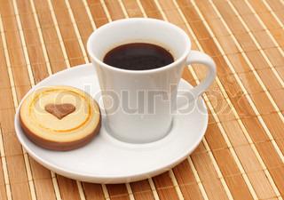 Image of 'cookies, coffee, beverage'