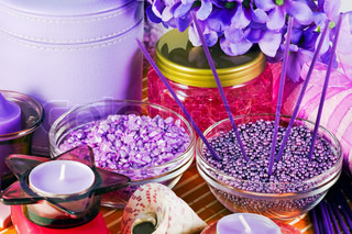 different salts and means for lavender spa