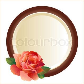 ramme til billede med rosen