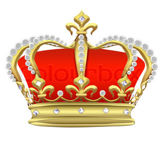 Illustration an imperial crown with pearls on a white background.