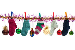 Christmas holiday gift sock stocking decoration