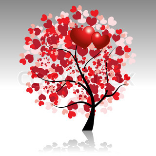 Valentine tree beautiful for your design