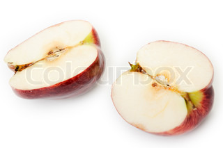 Healthy eating apple fruit food isolated on white