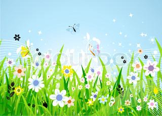 Vektor af 'foråret, plante, græs'