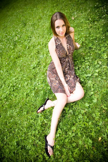 Pretty Woman On The Meadow