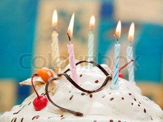Birthday party celebration sweet cake food candle