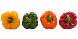 Healthy eating bell pepper vegetable food isolated