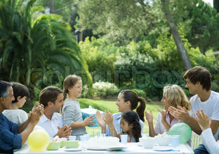 Image of 'garden, party, table'