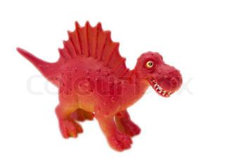 Spinosaurus - prehistoric era dinosaur on white