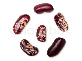 Healthy eating red raw legume bean food isolated