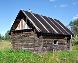 old wooden rural house