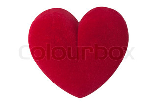 Valentine's day red love heart shape isolated