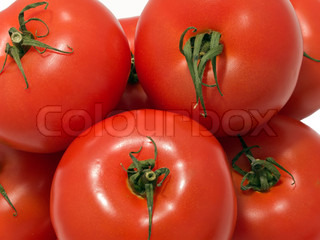 Vegetable food - bunch of red ripe healthy tomato
