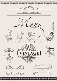 Vector Set: Calligraphic Design Elements For Page Decoration