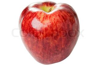 Sund kost æble frugt mad isoleret på hvidt