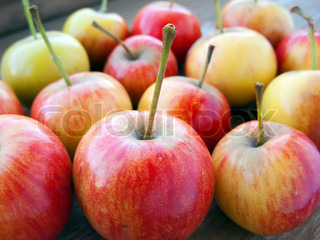 Healthy eating apple fruit food isolated on wood