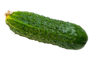 Healthy eating vegetable food - cucumber on white