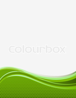 green background with waves