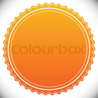Blank empty stamp, seal or badge template | Stock Vector | Colourbox