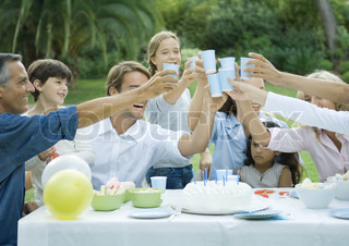 Image of 'party, family, garden'