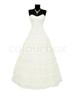 brudekjole på en mannequin på en hvid baggrund