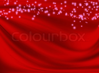 abstract red background with wavy lines and spots
