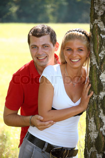 a young couple in love. lovinge people