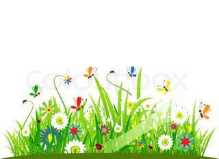 Vektor af 'sommer, blomster, insekt'
