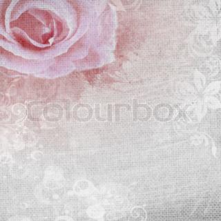 grunge romantisk baggrund med rose og diamanter