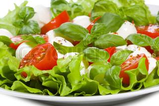 Caprese salat som baggrund