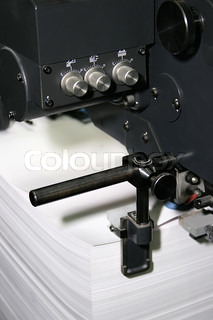 Work of the printed equipment in a modern printing house