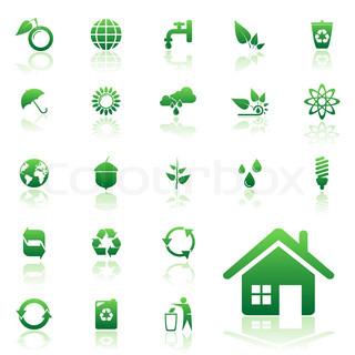 Vektor af 'genbruge, energier, huse'