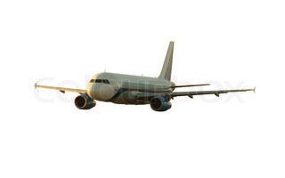 Passenger airplane isolated on white background with clipping path