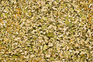 dried herbs mixture closeup texture background