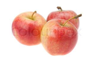æble isoleret på hvidt