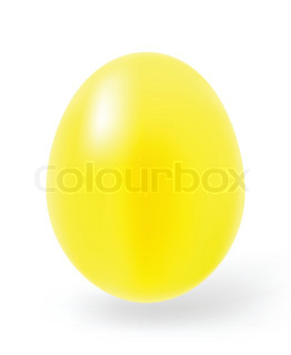 Multi-coloured Easter eggs on a white background