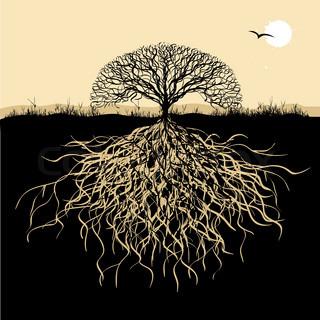 Vektor af 'family, familie, tree'