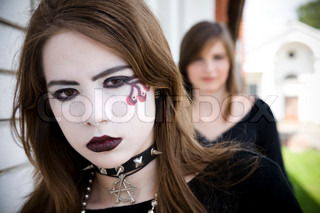 Young Girl With Gothic Make-up