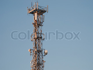 Communications antenna tower repeater equipment