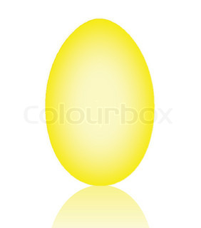 Big easter yellow egg illustration