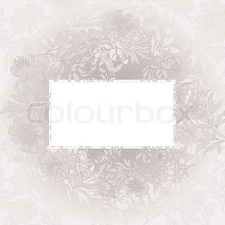 abstract background with a white card in a beautiful beige color